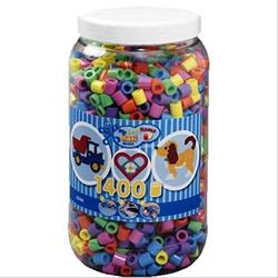 HAMA Bügelperlen Maxi - Pastell Mix 1400 Perlen (6 Farben) in Aufbewahrungsdos 8541