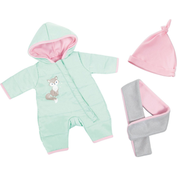 MyToys-COLLECTION Puppenkleidung Puppenkleidung-Set Winter türkis/rosa/grau, 3 tlg.