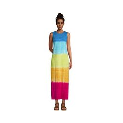 Maxi-Strandkleid Gemustert, Damen, Größe: 48-50 Normal, Multi, Baumwolle, by Lands' End, Regenbogen Ombré - 48-50 - Regenbogen Ombré