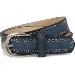 styleBREAKER Nietengürtel Gürtel mit Lochnieten Gürtel mit Lochnieten blau 90cm