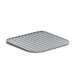 Zeller Geschirrabtropfunterlage, Kunststoff, Trockenmatte mit Wellenschliff zur Wassersammlung, Maße: 40 x 36,5 x 2 cm, anthrazit