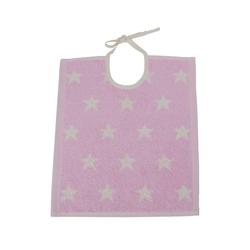 framsohn Kinderlätzchen ''Organic Stars'' 32 x 36 cm Rosa