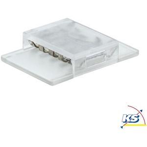Paulmann Zubehör für MAX LED STRIPE Clip-to-Clip Verbinder, 2er Set, weiß, für unbeschichtete Strips PAUL-70618