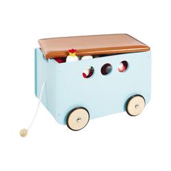 Pinolino® Aufbewahrungsbox Spielzeugkiste mit Rollen 'Jim', weiß grün
