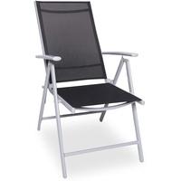Outdoor Edge Trixi Gartenstuhl 56 x 64 x 106 cm schwarz/silber klappbar