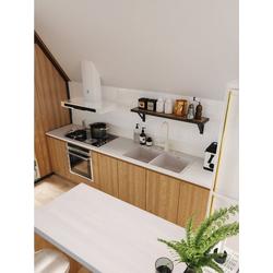 Home affaire Arbeitsplatte weiß 180 cm x 3,5 cm x 60 cm