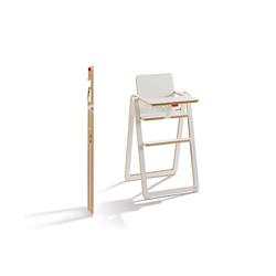SUPAflat klappbarer stabiler Kinder Hochstuhl aus Holz mit Tisch Sitzgelegenheit Hochstühle weiß