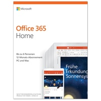 Office 365 Home 6 User PKC DE Win Mac Android iOS