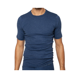 Ammann Unterhemd Jeans Sportjacke Unterhemd 1/2 Arm blau 8