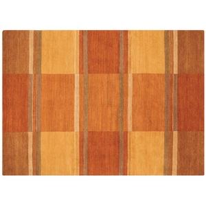 Handgeknüpfter Naturteppich ¦ orange ¦ Wolle » Möbel Kraft