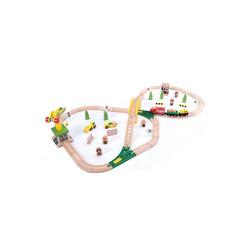 wuuhoo Spielzeug-Eisenbahn Holz-Eisenbahn im Set für Kinder mit viel Zubehör