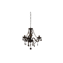 Reality Leuchten Kronleuchter in schwarz, 40 cm