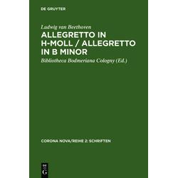 Allegretto in h-Moll / Allegretto in B minor als Buch von Ludwig Van Beethoven