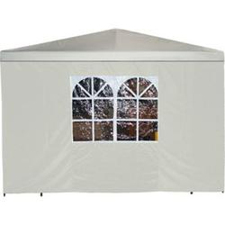 DEGAMO Seitenplane für Pavillon, 3x1,9 Meter, Polyester ecru mit Fenster
