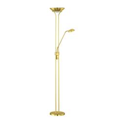 TRIO Leuchten,LED Stehlampe goldfarben Leselampen Lampen Leuchten