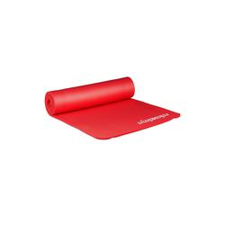 relaxdays Yogamatte Yogamatte 1 cm dick einfarbig rot