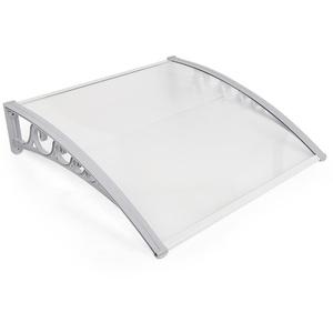 MUPAI Vordach Haustür, Kunststoff, Aluminium, Pultbogenvordach, Überdachung, Transparent, Fenster Markisen (100x150CM)