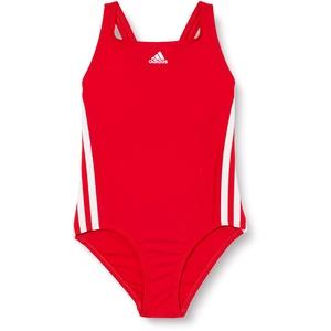 adidas Mädchen FIT Suit 3S Y Swimsuit, Scarlet/White, 3-4Y