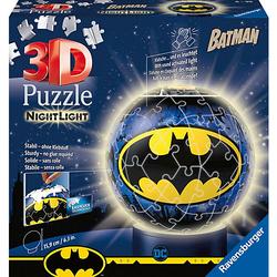 2in1 Nachtlich & puzzleball® Ø13 cm, 72 Teile , Batman
