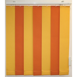 Lamellenvorhang nach Maß, sunlines, mit Bohren, mit Beschwerungsplatten, ohne Teilung orange