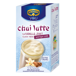 KRÜGER Chai Latte Classic India Typ Vanille Zimt weniger süß, 1er Pack