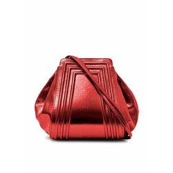 Gretchen Schultertasche, aus italienischem Kalbsleder rot