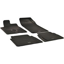 WALSER Passform-Fußmatten (4 Stück), Citroen C3, C5 Kombi, Schrägheck, für Citroën C3 und Citroën C5