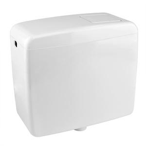 Stabilo-Sanitaer WC Aufputz-Spülkasten Toilette Tiefhängespülkasten Spülung 6-9 Liter einstellbar weiss mit Zubehör Kunststoff Start-Stop-Taste Wassersparfunktion