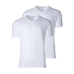 CECEBA Unterhemd Herren T-Shirts, - V-Ausschnitt, Kurzarm, weiß L