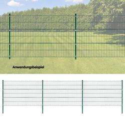 Stabmattenzaun grün 6x1,2 m Stabmattenzaun Gartenzaun Grundstückszaun Metallzaun