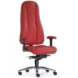 ZERO 72 L - Profi Bürostuhl Rot Leder