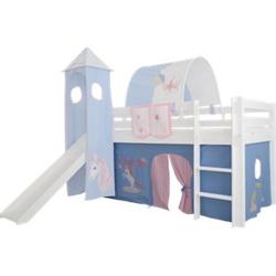 3tlg. Vorhang Set Höhle Einhorn für Hochbett Spielbett Vorhänge Kinderbett