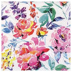 Linoows Papierserviette 20 Servietten Sommer, Aquarell, Komposition Bunter, Motiv Sommer, Aquarell, Komposition Bunter Blumen