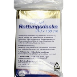RETTUNGSDECKE gold/silber 1 St