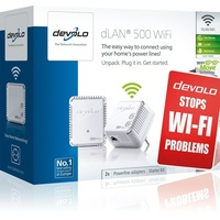 Devolo dLAN 500 WiFi Starter Kit 500Mbps (2 Adapter)