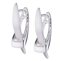 Vinani Paar Creolen, Vinani Klapp-Creolen X-Form Sterling Silber 925 Ohrringe CXV