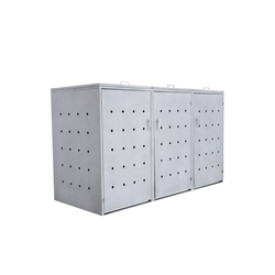 """Zelsius Mülltonnenbox Mülltonnenbox """"Rhombus Cement"""" mit Klappdeckel für 3 Tonnen"""