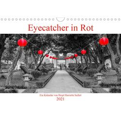 Eyecatcher in Rot (Wandkalender 2021 DIN A4 quer)