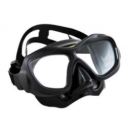 Poseidon 3D - Tauchmaske - schwarz - schwarzes Silikon
