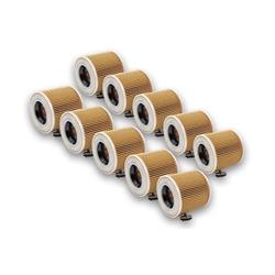 AccuCell Staubsaugerrohr 10x Staubsaugerfilter für Staubsauger wie Kärcher