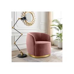 Leonique Sessel Marla, mit goldenem Sockel rosa