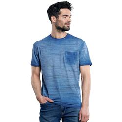 Flammgarn-Shirt Engbers Indigoblau