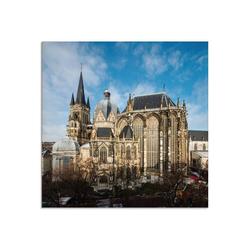 Artland Glasbild Aachener Dom II, Gebäude (1 Stück) 20 cm x 20 cm x 1,1 cm