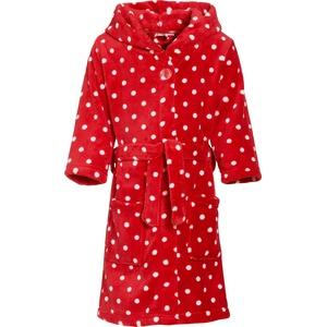 Playshoes Mädchen Kuschelweicher Fleece, Morgenmantel Punkte, Oeko-Tex 100 Bademantel, Rot (original 900), 110/116