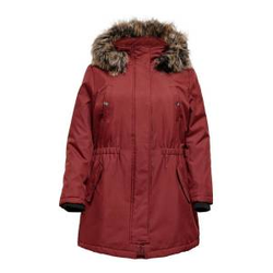 ONLY Curvy Parka Damen Rot Female S-42/44