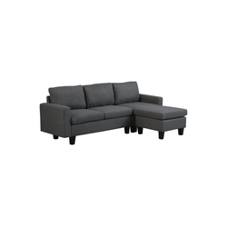 HOMCOM 3-Sitzer Couchgarnitur in L-Form