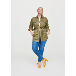 Fieldjacket mit Nieten Rock Your Curves by Angelina K Oliv