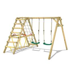 Wickey Doppelschaukel Schaukelgestell Smart Hike - Schaukel, Schaukelgerüst, Kinderschaukel, Holzschaukel grün