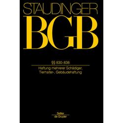 BGB §§ 830-838 (Unerlaubte Handlungen 3): Buch von