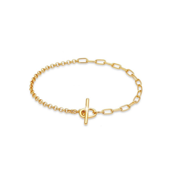 Elli Armband Bettelarmband Charmträger 925 Silber, Bettelarmband goldfarben